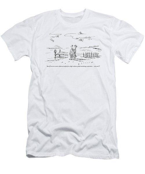 A Vacationing Couple Stands On A Beach Men's T-Shirt (Athletic Fit)