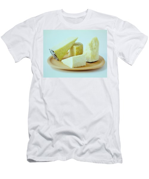 A Variety Of Cheese On A Plate Men's T-Shirt (Athletic Fit)