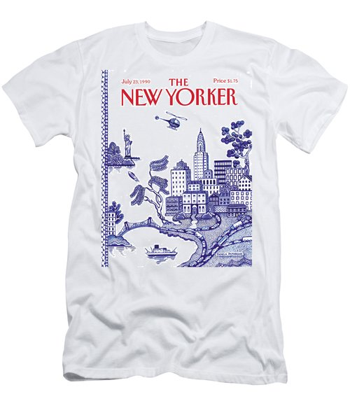 A View Of New York City Men's T-Shirt (Athletic Fit)