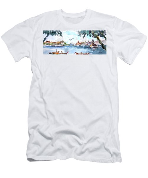A View Of The Historical Peninsula From Uskudar - Istanbul Men's T-Shirt (Slim Fit) by Faruk Koksal