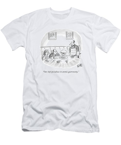A Waiter Served A Man A Plate Of Food That Men's T-Shirt (Athletic Fit)