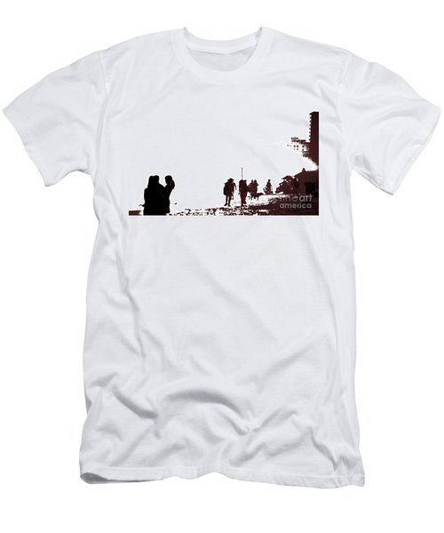 A Walk On The Beach Men's T-Shirt (Slim Fit) by Gary Smith