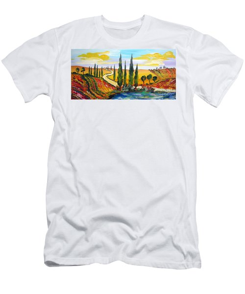 A Warm Day Under The Tuscan Sun Men's T-Shirt (Athletic Fit)