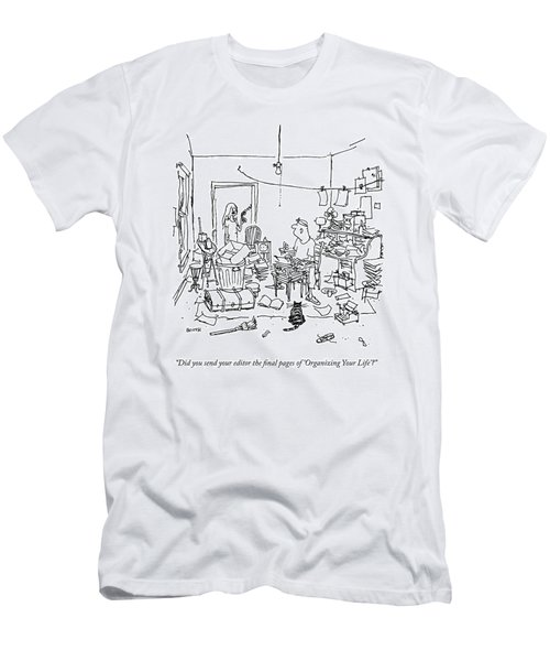A Wife Asks Her Writer-husband Men's T-Shirt (Athletic Fit)