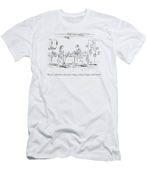 A Wife Speaks To Her Husband Men's T-Shirt (Athletic Fit)