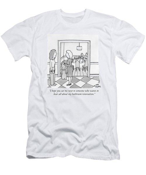 A Woman Arrives At A Brunch Party Men's T-Shirt (Athletic Fit)