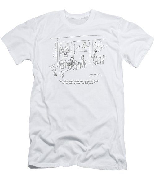 A Woman Asks A Man On A Date Men's T-Shirt (Athletic Fit)