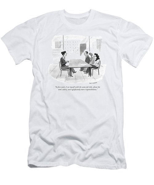 A Woman At A Job Interview Men's T-Shirt (Athletic Fit)