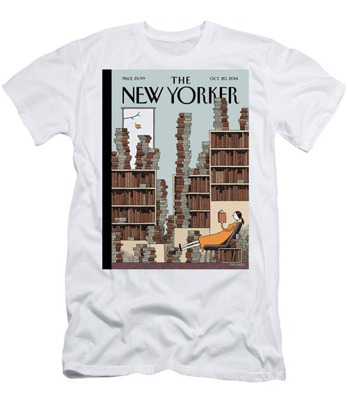 Fall Library Men's T-Shirt (Athletic Fit)