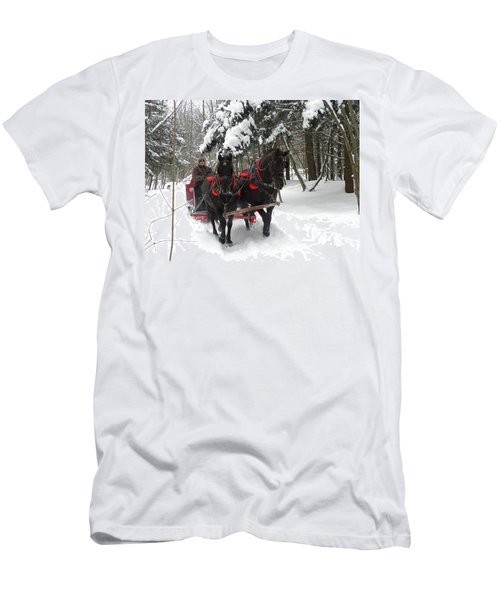 A Wonderful Day For A Sleigh Ride Men's T-Shirt (Athletic Fit)