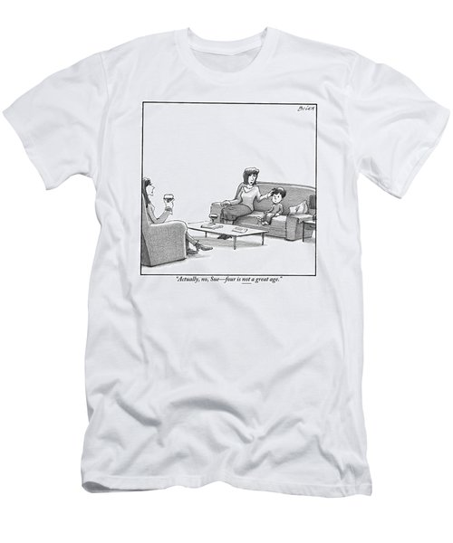 A Young Boy Sits On A Sofa Men's T-Shirt (Athletic Fit)