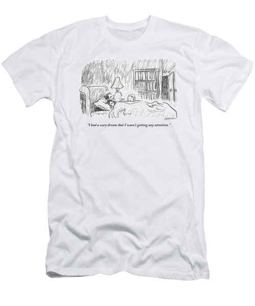 A Young Girl Wakes Up Her Sleeping Parents Men's T-Shirt (Athletic Fit)