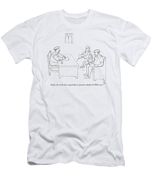 A Young William Shakespeare Is Questioned Men's T-Shirt (Athletic Fit)