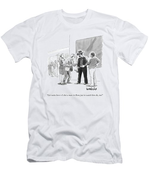 A Yuppy-type At A Cocktail Party Bothers A Tough Men's T-Shirt (Athletic Fit)