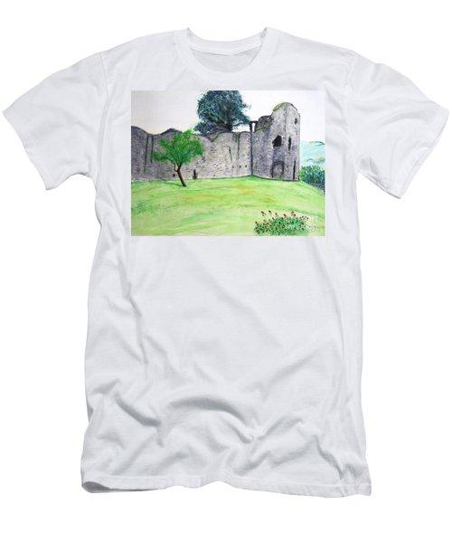 Abergavenny Castle Men's T-Shirt (Athletic Fit)