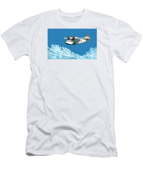 Above It All  The Grumman Goose Men's T-Shirt (Slim Fit) by Gary Giacomelli