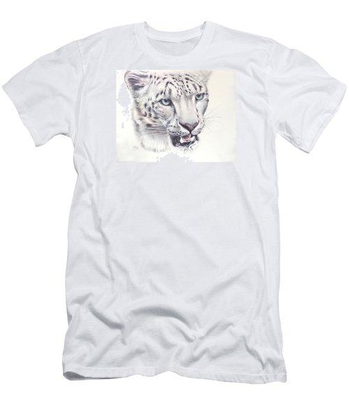 Above The Clouds - Snow Leopard Men's T-Shirt (Athletic Fit)