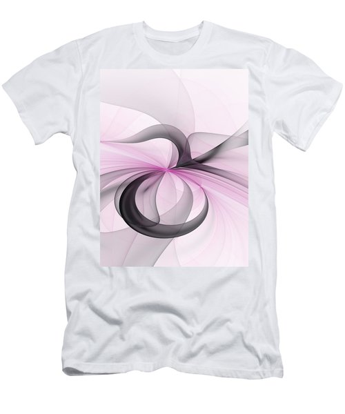 Abstract Art Fractal With Pink Men's T-Shirt (Athletic Fit)