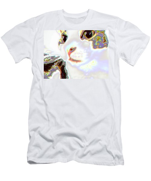Abstract Cat - Digital Art Men's T-Shirt (Athletic Fit)