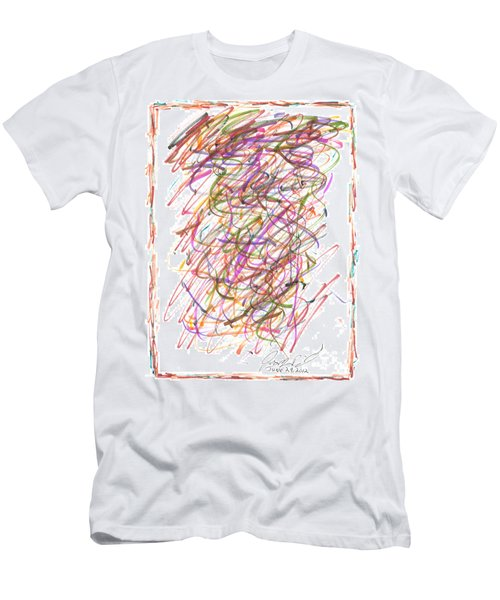 Men's T-Shirt (Slim Fit) featuring the painting Abstract Confetti Celebration by Joseph Baril