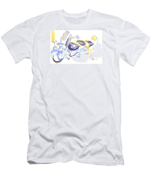 Abstract Motorcycle Men's T-Shirt (Slim Fit) by Kip DeVore