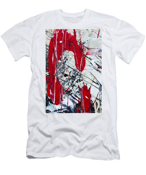 Abstract Original Painting Untitled Nine Men's T-Shirt (Athletic Fit)