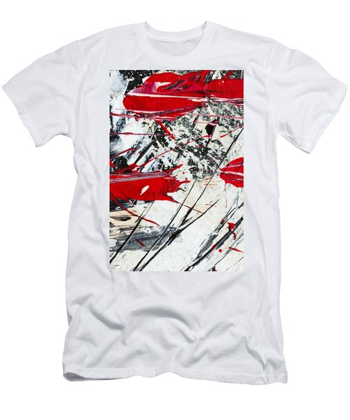 Abstract Original Painting Untitled Ten Men's T-Shirt (Athletic Fit)