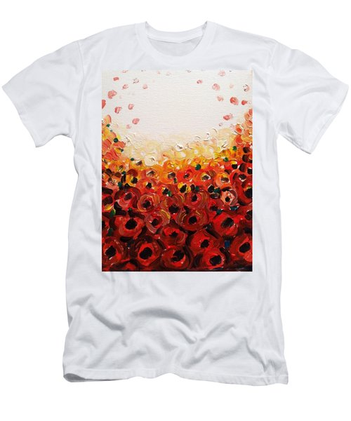 Abstract Poppies 2 Men's T-Shirt (Athletic Fit)