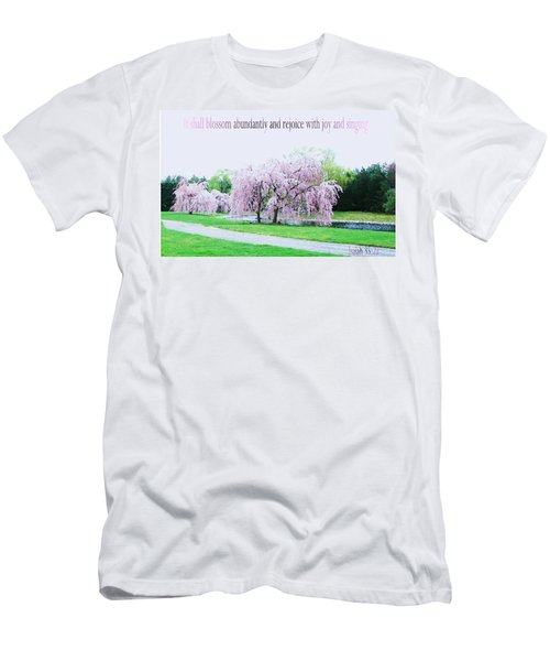 Men's T-Shirt (Slim Fit) featuring the photograph Abundant Blossom by Pamela Hyde Wilson
