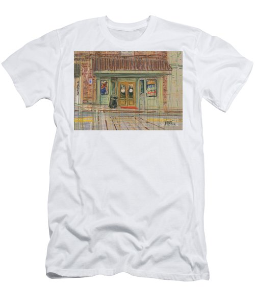 Men's T-Shirt (Slim Fit) featuring the painting Acworth Shop by Donald Maier