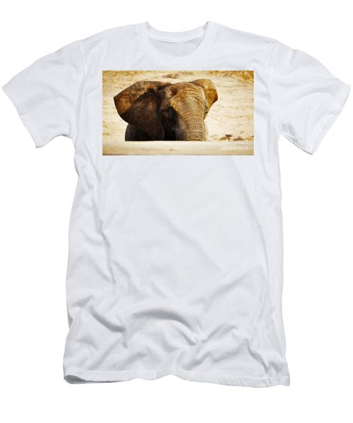 African Elephant Behind A Hill Men's T-Shirt (Athletic Fit)