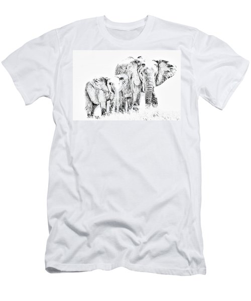 Men's T-Shirt (Athletic Fit) featuring the photograph African Elephants by Aidan Moran