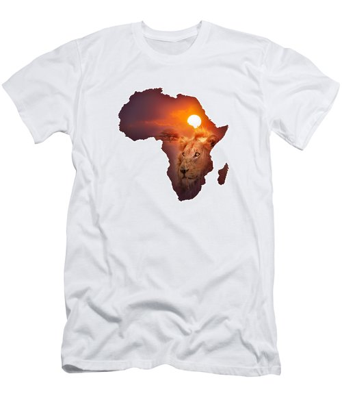 African Wildlife Map Men's T-Shirt (Athletic Fit)