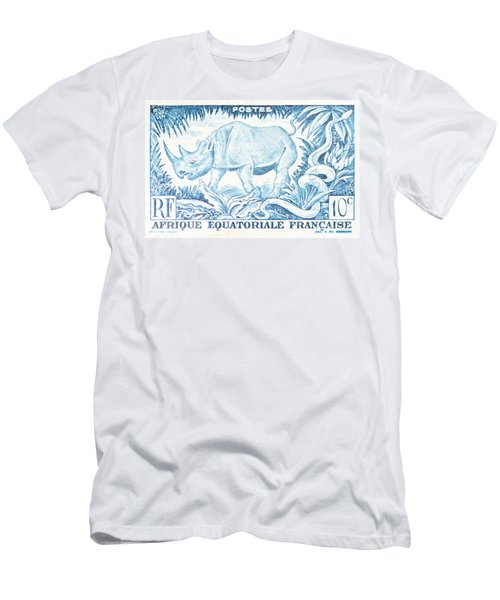 Afrique Rhino Men's T-Shirt (Athletic Fit)