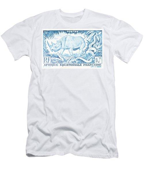 Afrique Rhino Men's T-Shirt (Athletic Fit)