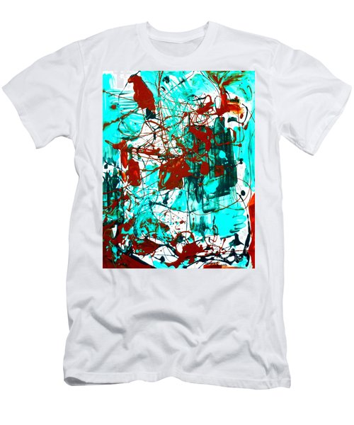 After Pollock Men's T-Shirt (Slim Fit) by Genevieve Esson