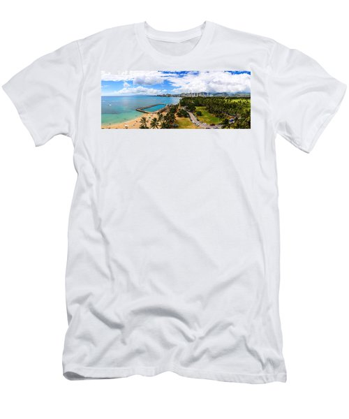 Afternoon On Waikiki Men's T-Shirt (Athletic Fit)