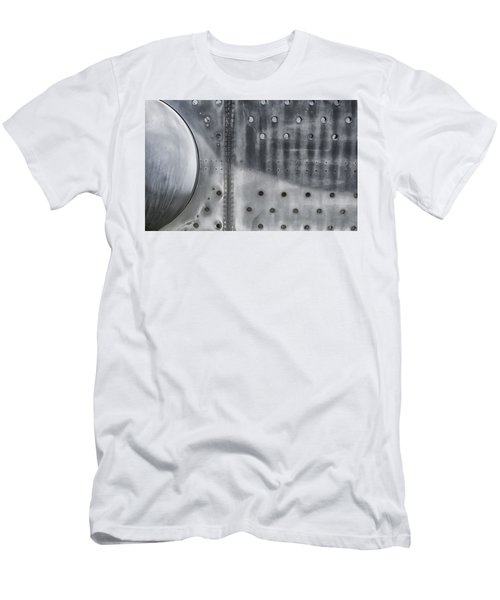 Aircraft Aluminum Two Men's T-Shirt (Slim Fit) by Gary Warnimont
