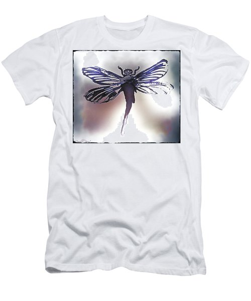 Alcohol Inks Purple Dragonfly Men's T-Shirt (Athletic Fit)