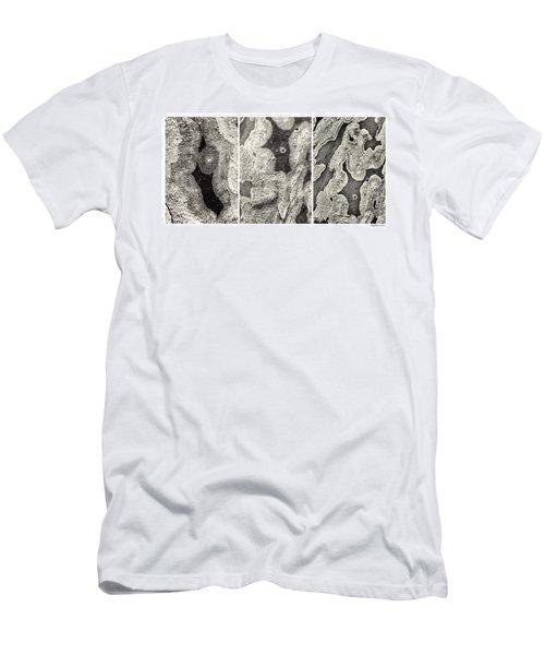 Alien Triptych Landscape Bw Men's T-Shirt (Athletic Fit)