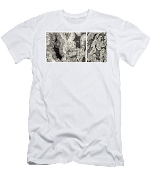 Alien Triptych Landscape Bw Men's T-Shirt (Athletic Fit)