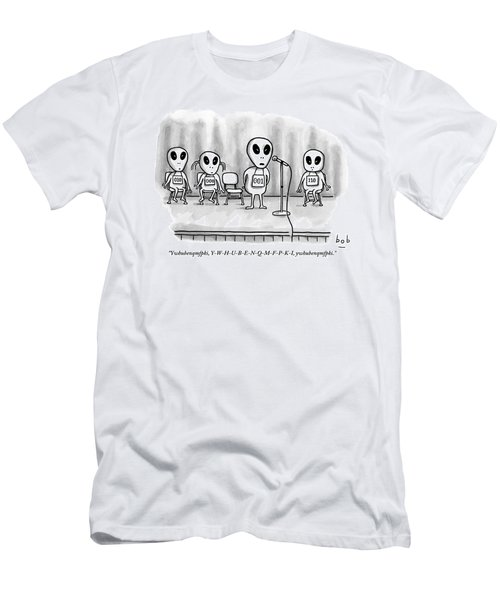 Aliens Participating In A Spelling Bee Men's T-Shirt (Athletic Fit)