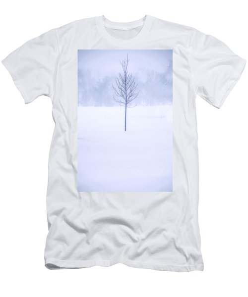 Alone In The Snow Men's T-Shirt (Athletic Fit)