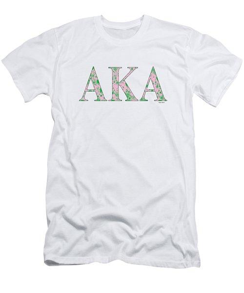 Alpha Kappa Alpha - White Men's T-Shirt (Slim Fit) by Stephen Younts