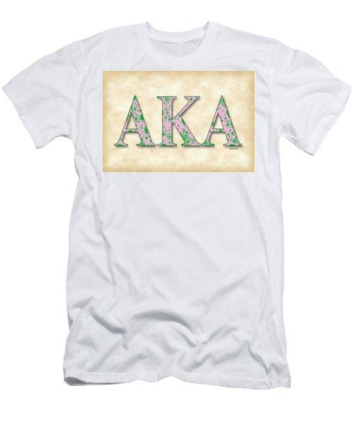 Alpha Kappa Alpha - Parchment Men's T-Shirt (Athletic Fit)