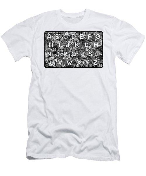 Alphabet Soup Men's T-Shirt (Athletic Fit)