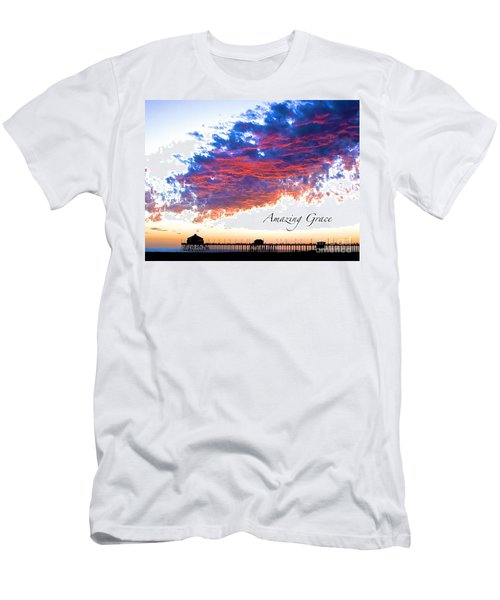 Men's T-Shirt (Slim Fit) featuring the photograph Amazing Grace Fire Sky by Margie Amberge