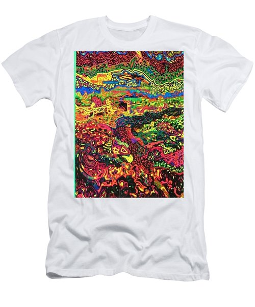 Men's T-Shirt (Slim Fit) featuring the drawing American Abstract by Jonathon Hansen