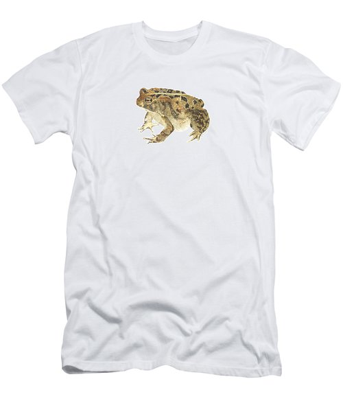 American Toad Men's T-Shirt (Slim Fit) by Cindy Hitchcock