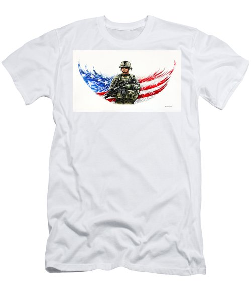 Americas Guardian Angel Men's T-Shirt (Athletic Fit)